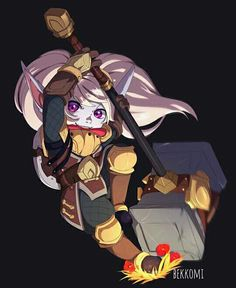 The little hero Poppy League, League Of Legends Poppy, Champions League Of Legends, Lol League Of Legends, Real Manga, Im Poppy, Legend Images, Demon Wolf, Legend Of Zelda Breath