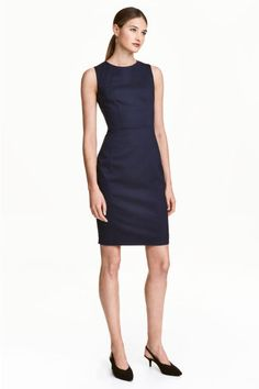 Vestido sin mangas - Azul oscuro/Estampado - MUJER | H&M ES