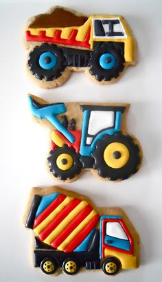 Oh Sugar Events, construction cookies for Carson Cookies For Kids, Fancy Cookies, Iced Cookies, Cut Out Cookies, Cute Cookies, Royal Icing Cookies, Cupcake Cookies, Cookies Et Biscuits, Sugar Cookies