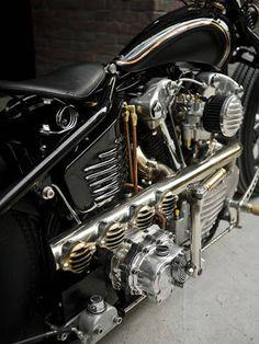 Vintage Racers: Harley Knucklehead by Rough Crafts & Zero Engineering