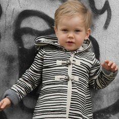 Baby Coat Black Stripes | Noe and Zoe