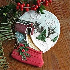 Snow Globe cookie. I would never attempt to make it but WOW!