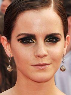 emma watson smoky eye makeup glitter