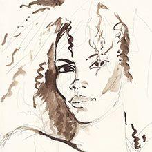 NELIDA Ledoux, Atelier D Art, Pastel Portraits, Mans World, Portrait Inspiration, Learn To Paint, Haiti, Crayons, Figurative