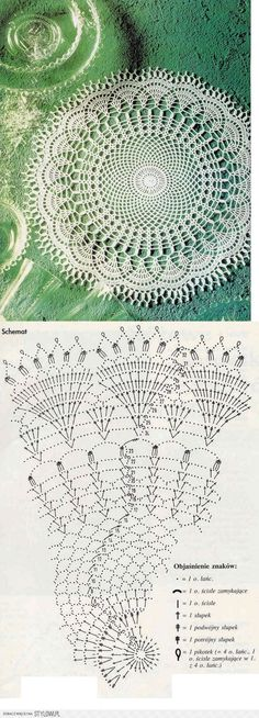 Learn to knit and Crochet with Jeanette: Patterns of crochet doilies. Filet Crochet, Mandala Au Crochet, Crochet Doily Diagram, Crochet Doily Patterns, Crochet Round, Crochet Chart, Crochet Home, Thread Crochet, Crochet Designs