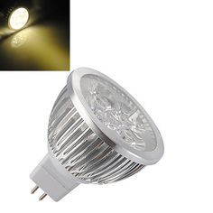 MR16 4W Warm White High Power Focus 4 LED Spot Lamp Bulbs AC/DC 12V