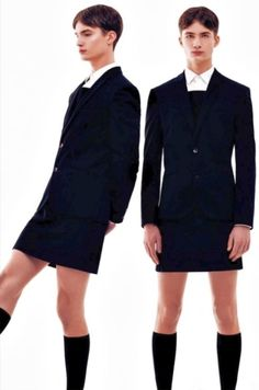 This is class. Its the updated school boy look with skirt instead of shorts.