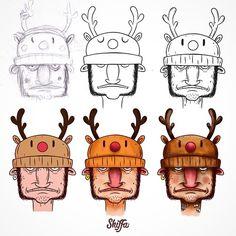 dashiffa Process#design #art #shiffa #dibujo #tattoo #illustrator #cartoon #cartooning #toon #digitalart #characterdesign #artwork #sketchbook #sticker #lettering #graffiti #character #type #graphicdesign #wacom #sketch #photoshop #drawing #draw #Logo #vector