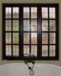 Fort Worth Stained Glass Bathroom Window