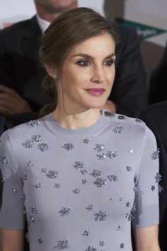 30 May 2017 - Queen Letizia of Spain attends the Europa Press news agency 60th Anniversary at the Villa Magna hotel in Madrid, Spain - Spanish Royals Attend 60th Anniversary of Europa Press Agency