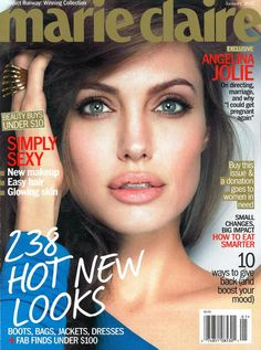 all angelina jolie magazine covers | ... Magazine cover of the month. Marie Claire January 2012. Angelina Jolie