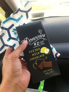 Feijoa chocolate by Donovan's