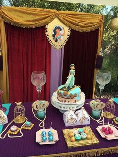 Princess Jasmine birthday party! See more party ideas at CatchMyParty.com!: