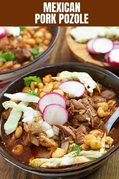 Authentic Pozole Rojo is hearty, tasty, and the ultimate comfort food. This Mexican pork and hominy stew makes a satisfying meal for holidays and year round. #Mexicanfood #soup #hominysoup #pozole #pork Pozole Recipe Pork, Mexican Pork Recipes, Hominy Soup, Spanish Dishes, Mexican Dishes, Mexican Casserole, Casserole Recipes, Pozole Rojo, Cheesy Meatballs