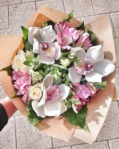 Орхидея Boquette Flowers, Beautiful Bouquet Of Flowers, Flower Pots, Beautiful Flowers, Orchid Bouquet, Floral Bouquets, Floral Centerpieces, Floral Arrangements, Cymbidium Orchids