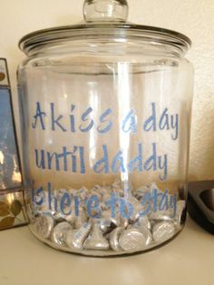 countdown jar for final deployment.