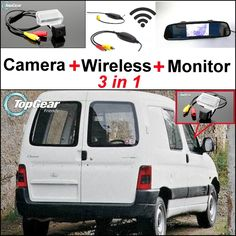 77.13$  Buy here - http://aligqn.worldwells.pw/go.php?t=32469806412 - 3 in1 Special Rear View Camera + Wireless Receiver + Mirror Monitor Easy Backup Parking System For Doninvest Orion M 1997~2008