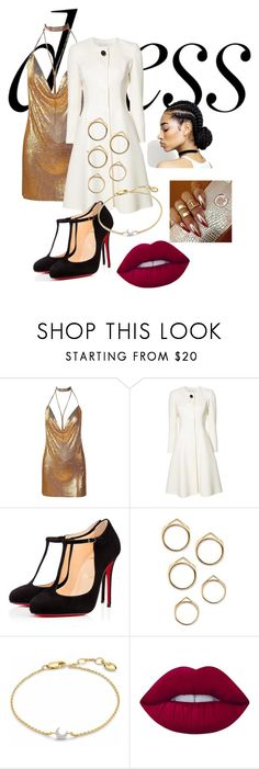 """""""Taking boys to men"""" by coucha ❤ liked on Polyvore featuring Carolina Herrera, Christian Louboutin, Missoma and Lime Crime"""