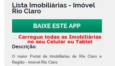 Aplicativo Lista Imobiliárias - Imóvel Rio Claro
