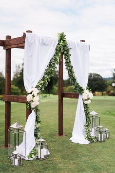 Backyard Wedding Backdrop The Bride 44 Ideas Diy Wedding, Wedding Events, Wedding Day, Wedding Church, Wedding Arbors, Budget Wedding, Arbors For Weddings, Wedding Jobs, Wedding Aisles