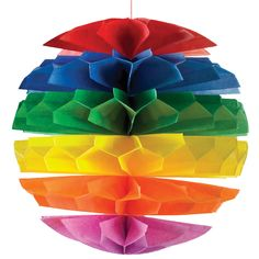 Multi-Color Diecut Paper Honeycomb Ball