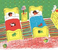"""Roger Duvoisin ~ """"The children were nestled all snugs in their beds, while visions of sugar-plums danced in their heads."""""""