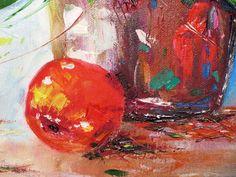 """Купить Картина маслом """"Яблоки в розах"""" производства мастера Danaia Stoiko на платформе Crafta. Заказать хенд мейд Картина маслом """"Яблоки в розах"""" в Украине из первых рук."""