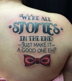 """Calling all Whovians! Here are some of the most inventive """"Doctor Who"""" tattoos that are filled with references and gorgeous art that would please any Time Lord. From gorgeous script art to the Gallifreyan alphabet, these tattoos will inspire any """"Doctor Who"""" fan to proclaim thei..."""