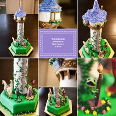 """Tangled"" up in Birthday Fun   Tangled Theme Birthday Cake   Vendor Share   Fairytale Creations Photography   Eugene Oregon"