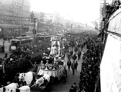Mardi Gras procession on Canal St1900