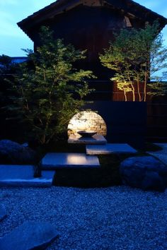 Landscape lighting up lighting frame lighting Japanese Garden Design, Japanese Landscape, Chinese Garden, Japanese Gardens, Yoga Garden, Garden Art, Home Lighting, Outdoor Lighting, Japanese Table