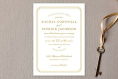 Luxe Border Wedding Invitations by Sarah Brown at minted.com