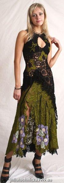 crochet skirt and top Freeform Crochet, Irish Crochet, Crochet Lace, Crochet Skirts, Crochet Clothes, Dress Skirt, Dress Up, Boho Fashion, Fashion Outfits