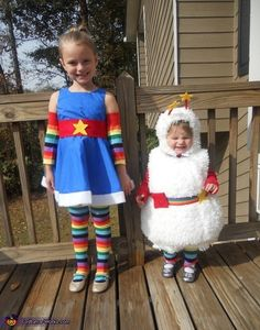 Rainbow Brite and Twink - DIY Halloween Costumes