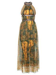 Elephant-print cotton-muslin dress | Valentino | MATCHESFASHION.COM