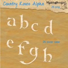 26 lower case letters to match the Country Roses kit    Personal use