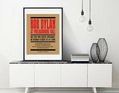 Art Print OR Canvas, Bob Dylan, Concert Poster, Bob Dylan Poster, Vintage Inspired, Vintage Poster, 1960s Hippie, Bob Dylan Art, Canvas Art by BrightAndBonny on Etsy