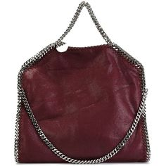 Stella McCartney 'Falabella' tote (17.905.020 IDR) ❤ liked on Polyvore featuring bags, handbags, tote bags, burgundy tote bag, red leather handbag, red tote, red leather tote and leather handbags