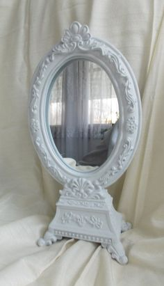 White Rococo French Style Mirror Ornate Home Decor by ArtbyScherer, $15.00