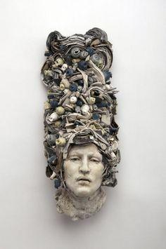☥ Figurative Ceramic Sculpture ☥  Cristina Cordova | Fruta Azul