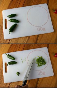 If this is real, it's amazing. Cutting board/scale!