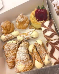 Which pastry would you go for first?! #carlosbakery