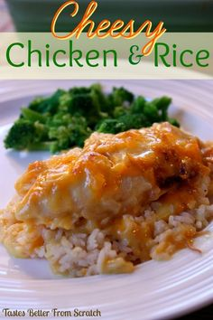 Cheesy Chicken and Rice Casserole : Tastes Better From Scratch