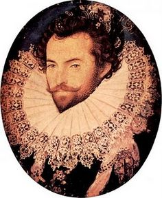 Sir Walter Raleigh, one of Elizabeth's favorites. A fascinating man, to say the least.