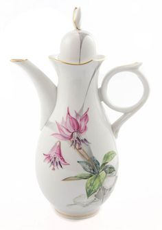Coffeepot, Alpine flora, expressive, gold rim, V 1,30 l