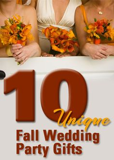 creative wedding party gifts for your fall wedding