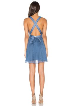 MAJORELLE April Dress in Light Blue | REVOLVE