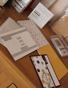 Kreativersum, Stampin' Up!, SU, Designerpapier, Mondschein, Framelits, File Tabs, Einsteckkarte, Karte, Spruch-reif, Work of Art, Brombeermousse, Honiggelb, Lagunenblau