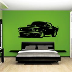 """""""Vintage"""" Mustang Wall Decal"""