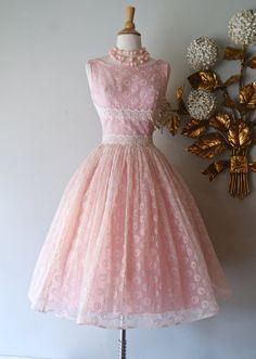 50s Dress // Vintage 1950's Pink Prom Dress With door xtabayvintage, $248.00